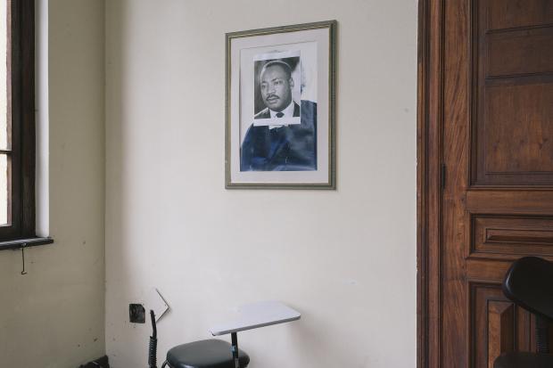 Retrato de Martin Luther King Jr. Porto Alegre, RS, Brasil. 03 de diciembre de 2016.