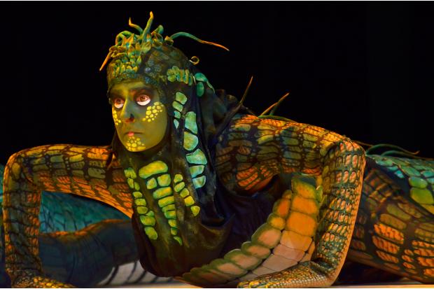FLORENCIA ZABALETA. Paisaje marítimo, de Edward Albee. Dirección: Mario Ferreira. 2014. Foto: Gustavo Castagnello.