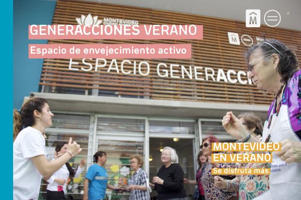 GenerAcciones verano - espacio de envejecimiento activo. Montevideo en verano.