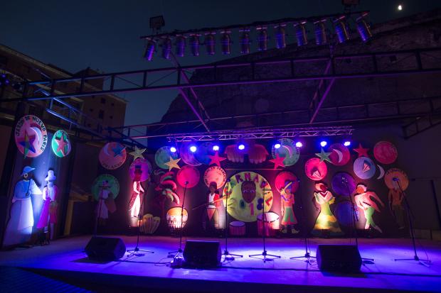 Tablado Museo del Carnaval. Barrio Ciudad Vieja.