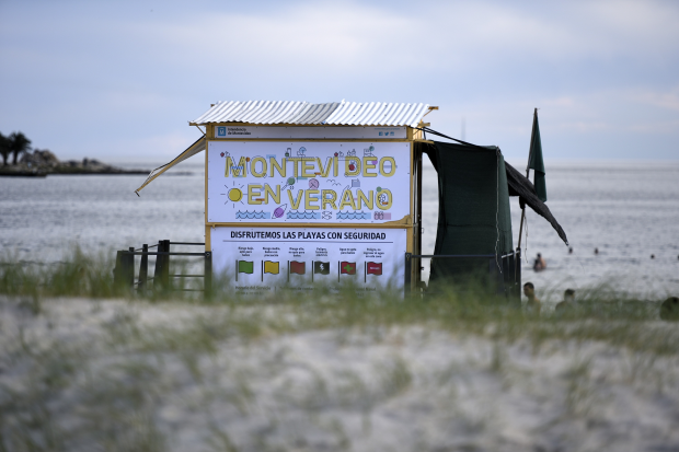 Caseta de guardavidas en Playa Malvín