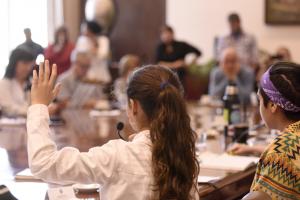 Gabinete recibe al parlamento de niñas, niños y adolescentes