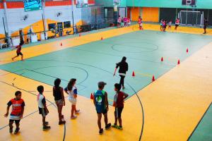 Actividad deportiva en Complejo SACUDE