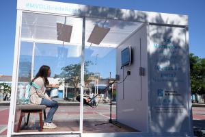 Cabina itinerante del programa Montevideo Libre de Acoso