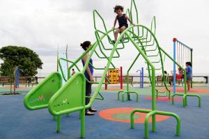 Inauguracion de parque lineal en Barrio Sur