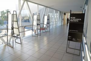 Exposicion Dejar la violencia machista, en el intercambiador Belloni