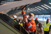 Capacitación en reparación de contenedores en el marco del Plan Laboral ABC