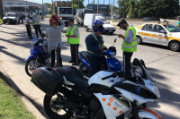 Operativo control caños de escape de motos