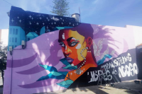 Mural «Transitemos libres de acoso» en Municipio CH