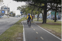 Bicicircuito Montevideo. Bicisenda Av. Italia