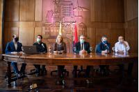 Conferencia de prensa sobre medidas destinadas al sector hotelero