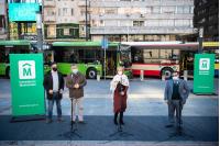 Presentación de nuevos vehículos de transporte colectivo híbridos
