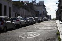 Bicicircuito Montevideo. Calle Pérez Castellano