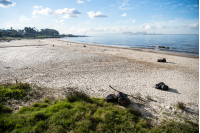 Cuadrilla de limpieza del Programa ABC Trabajo en la Playa del Cerro