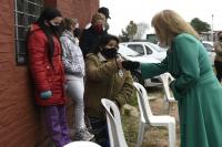 Vacunatorio móvil por Covid-19 en barrio 1° de Mayo