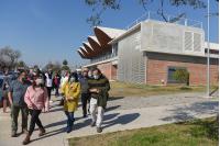 Recorrida de directora de Cultura María Inés Obaldía en Complejo Crece Flor de Maroñas