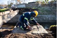 Obras en barrio Las Cabañitas en el marco del Plan ABC