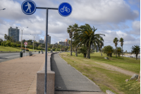 Bicicircuito Montevideo. Bicisenda Rambla Gandhi