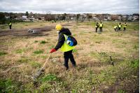 Actividades de limpieza en asentamiento 40 Semanas en el marco del Plan Laboral ABC