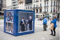 Apertura oficial de la «Expo Democracia» en la Plaza Independencia