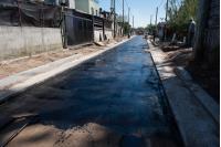 Asfaltado en barrio Las Cabañitas