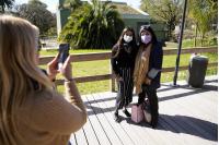 Visita de la Directora de Cultura María Inés Obaldía al Parque Villa Dolores