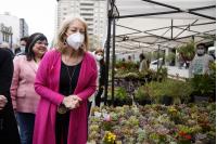 Inauguración de la Feria de la Primavera en la explanada de la Intendencia de Montevideo