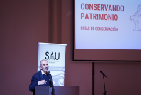 Presentación de cartillas de conservación patrimonial en el Teatro Solís