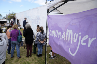 Intervención de Comuna Mujer 17 en la Terminal de Ómnibus del Cerro