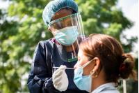 Hisopado de Covid-19 en la Policlínica Los Ángeles del Complejo SACUDE