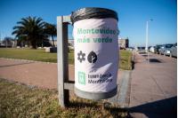 Intervención de papeleras en Plaza República Argentina