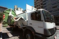 Presentacion de los nuevos camiones y del nuevo sistema de recoleccion de residuos domiciliarios con contenedores de la IM.
