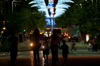 Iluminación en Av. 18 de julio