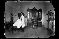 Peluquería no identificada. Esperanza, Santa Fé, 1922.