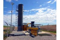Planta captura biogas
