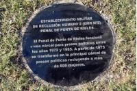 Marca de la memoria en Punta de Rieles