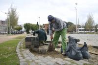 Reparación juegos saludables convenio IM - INR en la  Plaza de Deportes Nº 12 ubicada en Regimiento 9 y José María Penco
