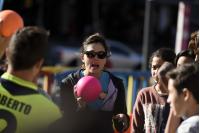 Demostracion de datchball en la explanada de la Intendencia