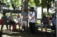 Visita de Carolina Cosse a ollas populares del Cerro