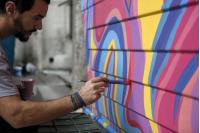 Intervencion artistica de contenedores de residuos