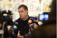 Conferencia de prensa Pablo Inthamoussu por plan piloto de líneas semidirectas