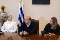 Firma acuerdo reconstrucción mural Dumas Oroño