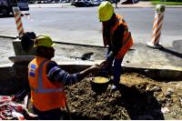 Obra de canalizacion de tránsito en circunvalación Palacio Legislativo