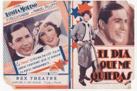 Afiche de presentación de Carlos Gardel en el teatro Rex en 1931
