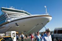 Crucero en el puerto de Montevideo