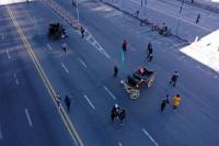 Paseo peatonal en Av. 18 de Julio