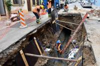 Obras de Saneamiento en Barrios Amorin y La Paz