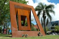 Inauguración escultura cimarrones