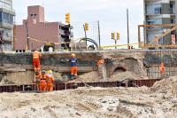 Construccion de Muro de Contencion Rambla Ohiggin y Michigan