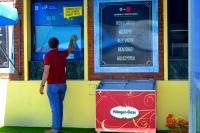 Inauguración de pantalla touch-screen de Descubrí Montevideo en la terminal del Puerto
